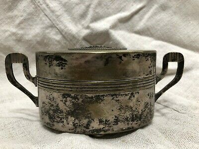 Antique alpacca silverplate dose jewel-box without marking