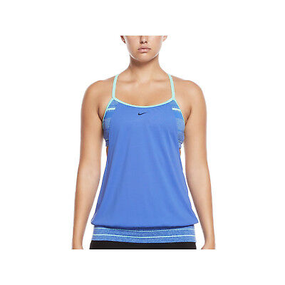 detailed look d284c 71ab8 women s nike filtered sport 2-in-1 tankini top size medium nwt