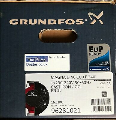 Grundfos MAGNA UPED 40-100 Twin Head Variable Speed Pump 240V 96281021 #1301
