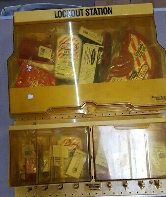 MASTER LOCK S1850 & S1800 Lockout Stations filled LOCKOUT / TAGOUT KITS (USED)