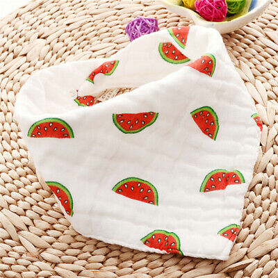 Newborn Baby Lovely Cotton Bibs Baby Saliva Towel Bandana Dribble Triangle LH