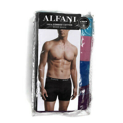23ac086aee7d ALFANI MENS UNDERWEAR Boxer Briefs 4 Pack Pink Blue Sz Small ...