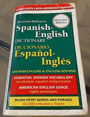Merriam-Webster's Spanish-English Dictionary (1998, Paperback); Used, acceptable