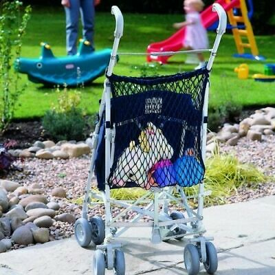 Clippasafe Stroller Net Bag Organiser Pram Buggy Storage Shopping - Navy