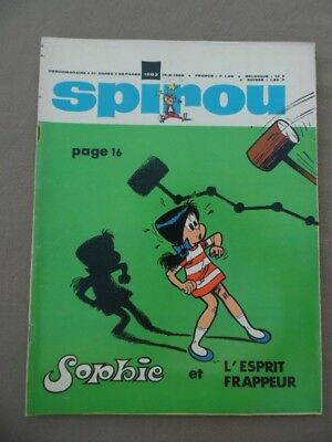 Spirou    1583   +  Mr  +  Supplement  Poster  Schtroumpfette   Neuf