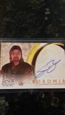 Lord of the rings Topps autograph card