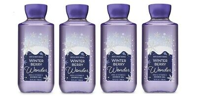 Bath & Body Works Winter Berry Wonder Shea & Vitamin E Shower Gel 4 Pack