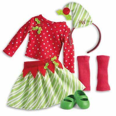 American Girl Doll Wellie Wisher Elf Costume Outfit NEW!! Holiday Wishers Set