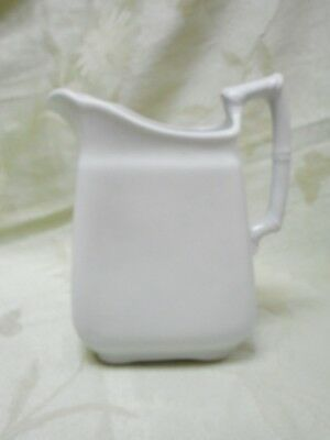 WH Grindley Pitcher Royal Ironstone China England Bamboo Handle