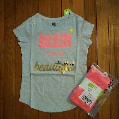 845f75779c9f4 NWT Crazy 8 by Gymboree Girls Outfit Top/Leggings Size 14 16 Neon Coral