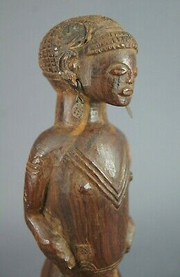 Fine Old Chokwe Carved Wooden Tribal Figure Angola Congo African Tribal Art