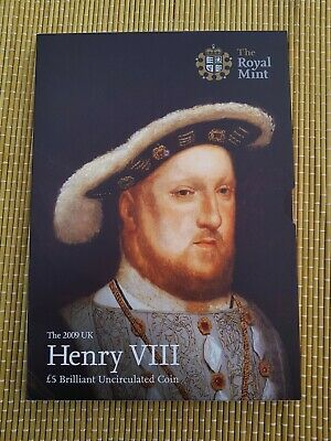2009 Royal Mint Henry VIII BUNC five pound £5 coin in Presentation Pack