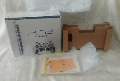 *EMPTY* Sony PlayStation 2 SATIN SILVER PS2 video game CONSOLE BOX boîte vide