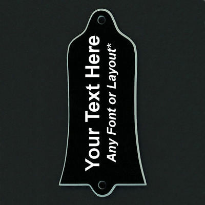 GUITAR TRUSS ROD COVER Custom Engraved For USA GIBSON - PERSONALIZED TEXT Black