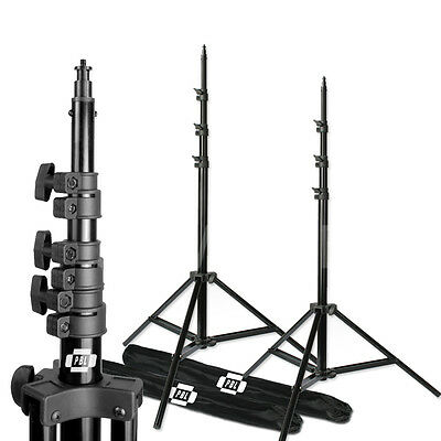PBL 10ft Air Cushioned Photography Video Studio Lighting Stands Set of 2