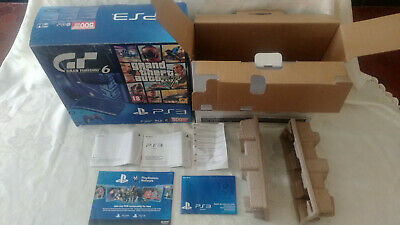 EMPTY BOX SONY Playstation 3 PS3 boite vide pack GTA V Gran Turismo 6 500gb