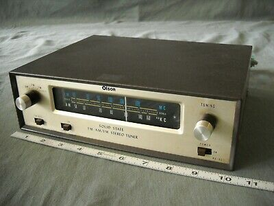 Vintage Olson Solid State Am Fm Stereo Tuner Component Model Ra-803 Transistor