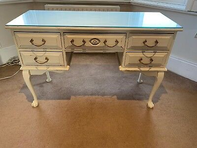 Vintage style dressing table white painted pine