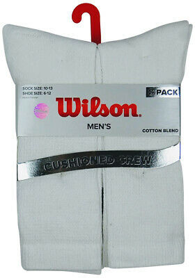 Wilson Men's Cushioned Crew Socks | 8-Pair Pack