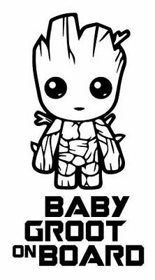 Baby Groot On Board - 20cm Sticker Any Colour Decal - BABY052