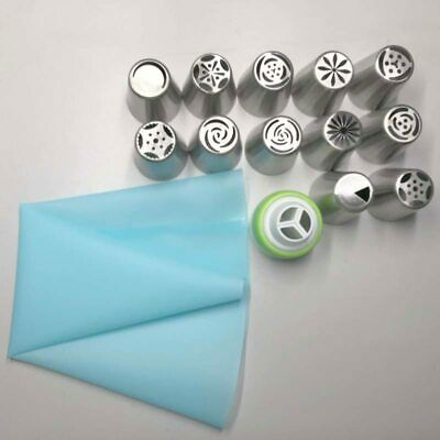 Tulip Icing Piping Nozzles Stainless Steel Flower Cream Pastry Tips Nozzles Bag