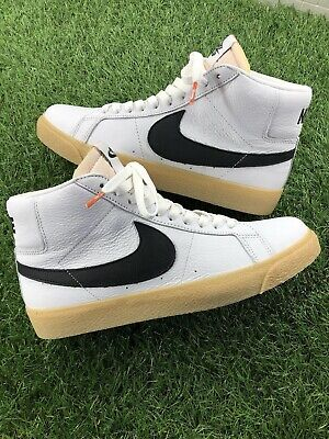 best sneakers f7eac bf759 Nike SB Zoom Blazer Mid Iso Orange Label White Black Safety Orange Size 9