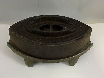 Antique Clothes Iron with Stand Cast Iron Cole Brookdale Iron Co Pottstown PA