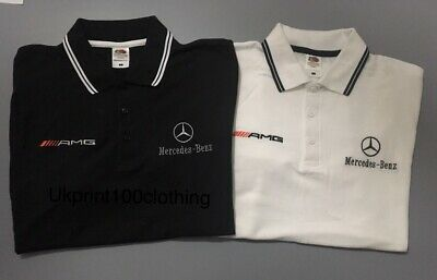 MERCEDES BENZ and AMG LOGO EMBROIDERED TIPPED POLO SHIRT  (JACKETS), S - 3XL