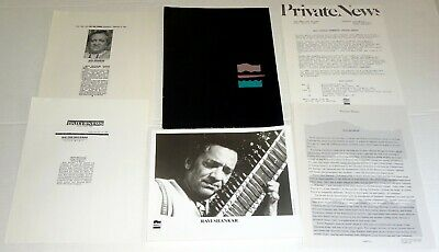 RAVI SHANKAR 6pc Photo Press Kit Lot Inside The Kremlin 1989 Sitar