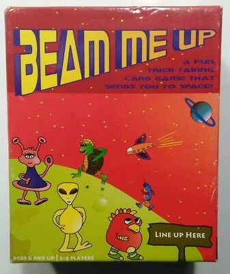 Beam Me Up Card Game  2-4 Players / Ages 6 And Up New Sealed