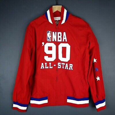 23da6fc2 100% Authentic Mitchell & Ness 1990 All Star Game Warm Up Jacket Size M 40