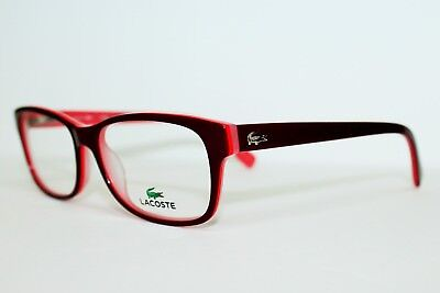 3c08ebd5b64 Brand New Lacoste L2724 603 Red Rose Authentic Eyeglasses L 2724 Rx 52-16-