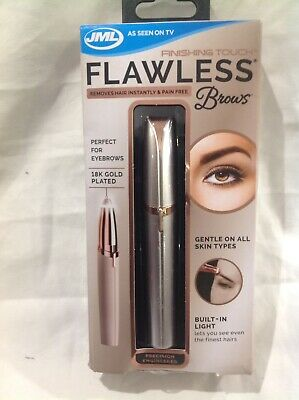 JML Finishing Touch Flawless Brows Eyebrow Shaper Hair Remover Pain Free P&P