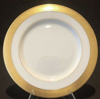 """Lenox Westchester Luncheon Plate 9 1/4"""" D Gold Encrusted M-139 Sold Individually"""