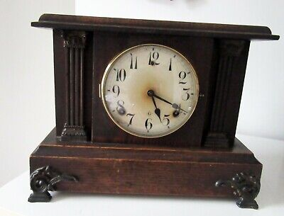 8 Day Striking Mantel Clock by Gilbert Clock Co 1840-1964 in Full Working Order