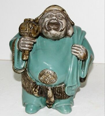 Fantastic Vintage Chinese Laughing Buddha Pottery Figurine...WOW!!!