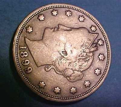 1899 Liberty Nickel *Nicer Gem Circulated *Lead Color *Make An Offer* & Save*