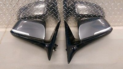 Genuine BMW 3 GT F34 Wing Mirrors Power Auto Folding Dimming L+R Pair Grey 5 Pin