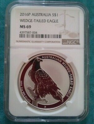 2016p australia wedge-tailed eagle-NGC MS69-