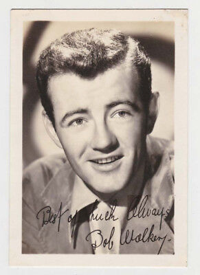 "Robert Walker 3 1/2"" x 5"" B&W Photograph Best Of Luck Always Bob Walker"