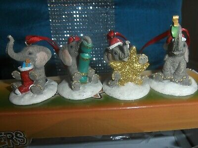 tuskers collectable henry elephants,christmas hanging ornaments x4,perfect