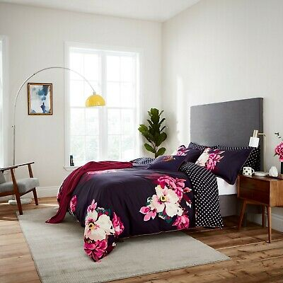 Joules Bedding Winter Bloom Navy Single New