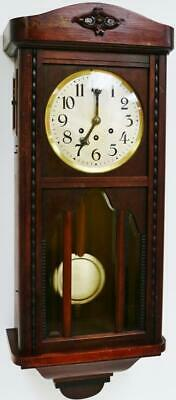 Antique Edwardian Badische Uhrenfabrik 8Day Westminster Chime Musical Wall Clock
