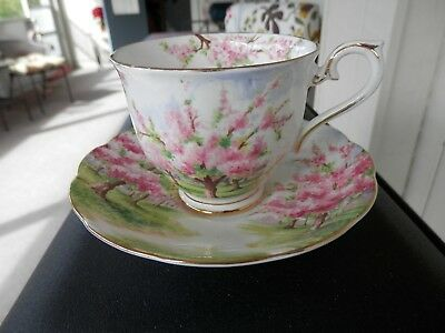 Royal Albert Bone China Blossom Time Cup & Saucer Gold Trim England