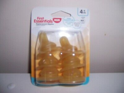 Nuk first essentials Latex bottle nipples 4+ months new