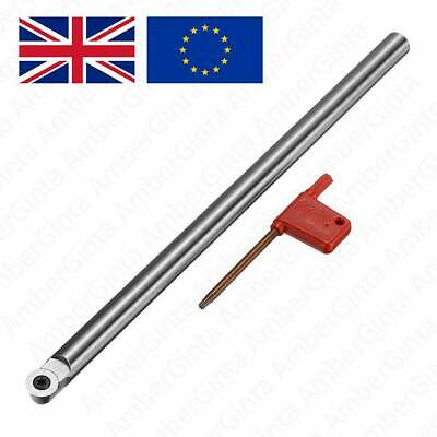 R6 250mm Wood Turning Tool Turning Chisel Round Shank Wood Carbide Insert Cutter