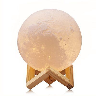 """5.9"""" Luna Moon Lamp Night Light 3D Touch Sensor LED Bedside Table Lamp Dimmable"""