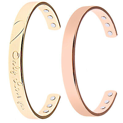 Magnetic Healing Therapy Bracelet Copper Arthritis Pain Relief Pure Bangle Cuff