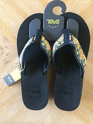 6b65bc28b Teva Mush Mandalyn Wedge 2 Flip Flops Sandals Rosa Yellow Women s Size 8 Nwt