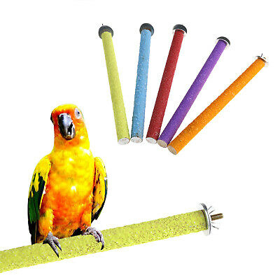 Pets Bird Stand Feet Toys Paw Grinding Claw Perches Cage Parrot Budgie Chew Toys